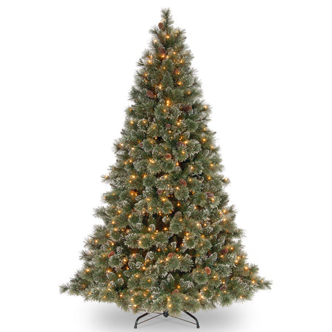 7 1/2-Foot Prelit Snowy Bough White Fir