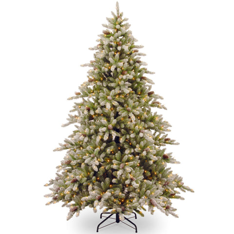 7 1/2-Foot Prelit Frost Tipped Prelit Christmas Tree