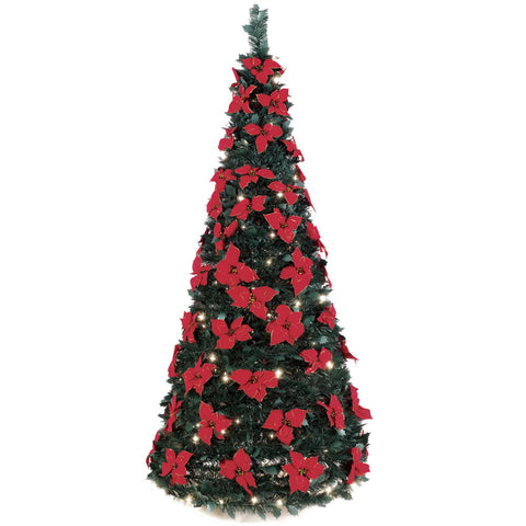 6' Pull-Up Poinsettia Tree