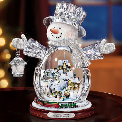 Thomas Kinkade Illuminated Crystal Snowman