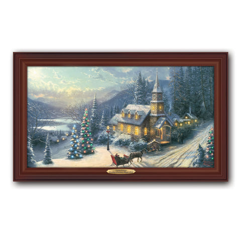 Thomas Kinkade Illuminated Sleigh Ride Canvas Print