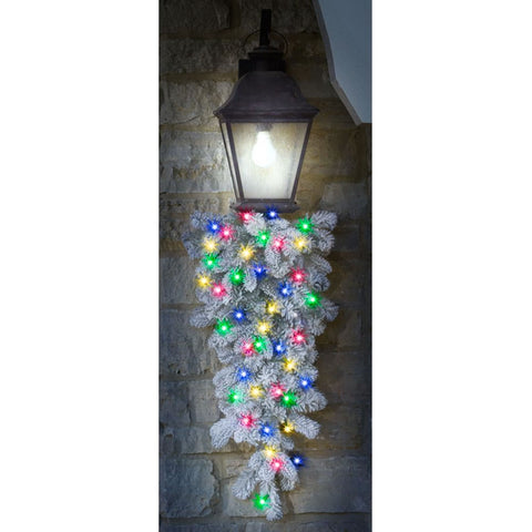 The Cordless Snowy Bough Light Show Teardrop Sconce