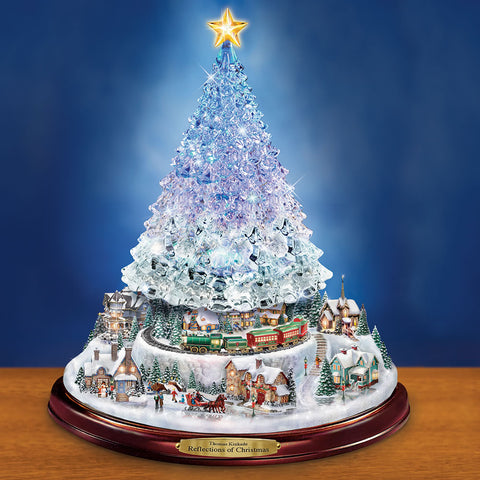 Thomas Kinkade Color Changing Crystal Tree