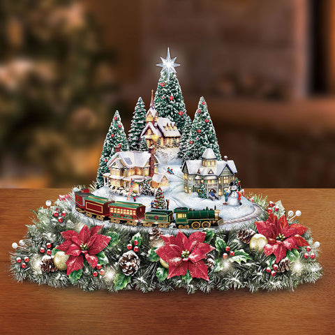 Thomas Kinkade Illuminated Animated Centerpiece