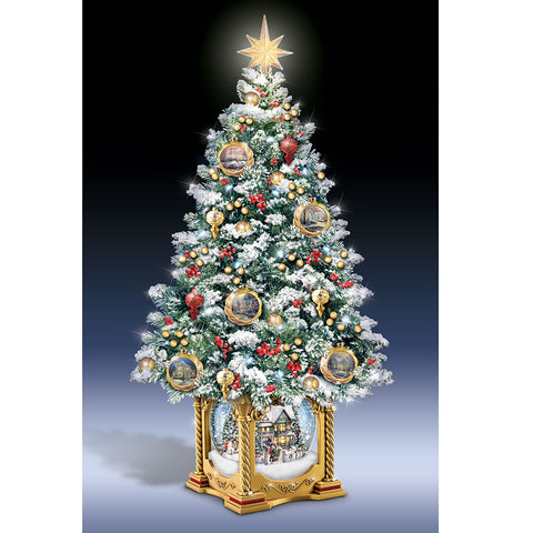 Thomas Kinkade Snow Globe Tabletop Tree