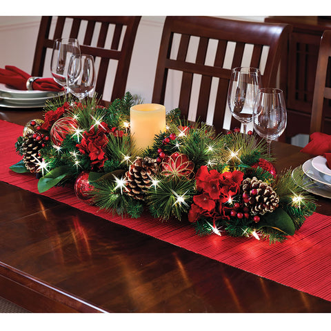 The Cordless Illuminated Shimmering Centerpiece