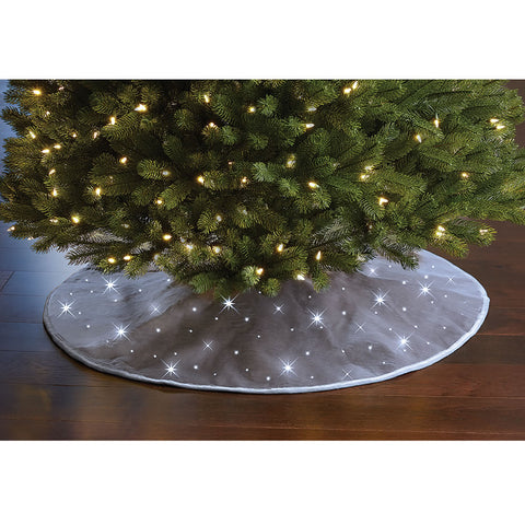 Cordless Twinkling Tree Skirt
