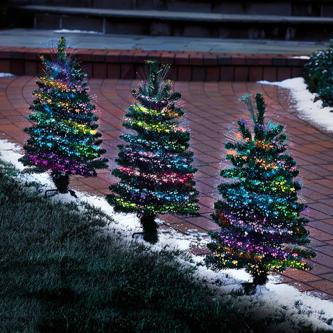Holiday Light Show Tree Luminarias