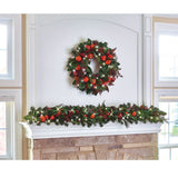 The Cordless Prelit Della Robbia Holiday Trim (Wreath)