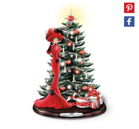 Caroling Coca Cola Christmas Tree