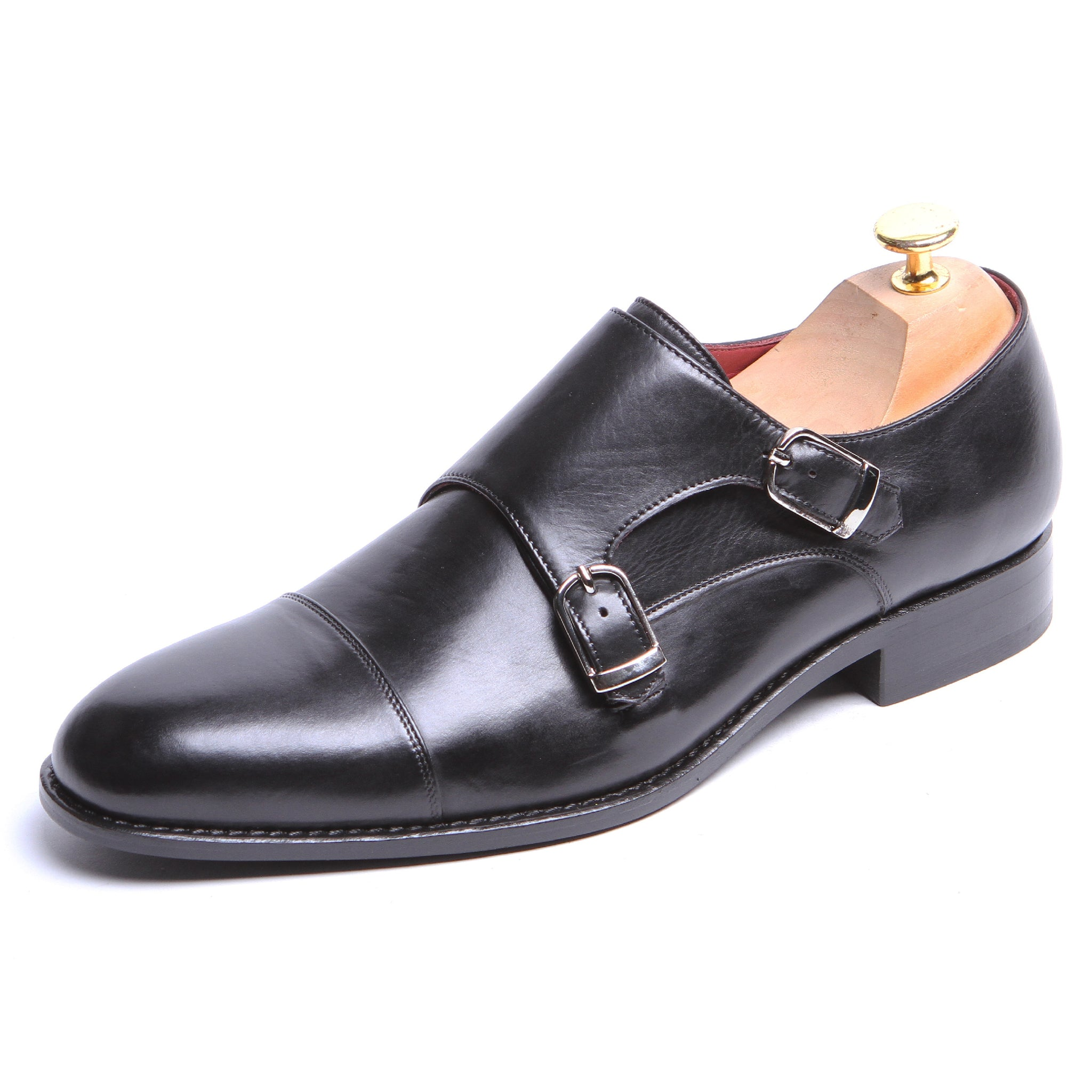 d92c5596b8225 Masterpiece Double Monk Strap - Black