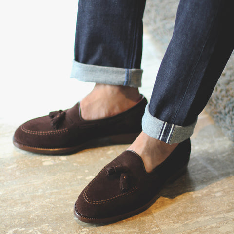 ML Tassel Loafer - Suede D.Brown