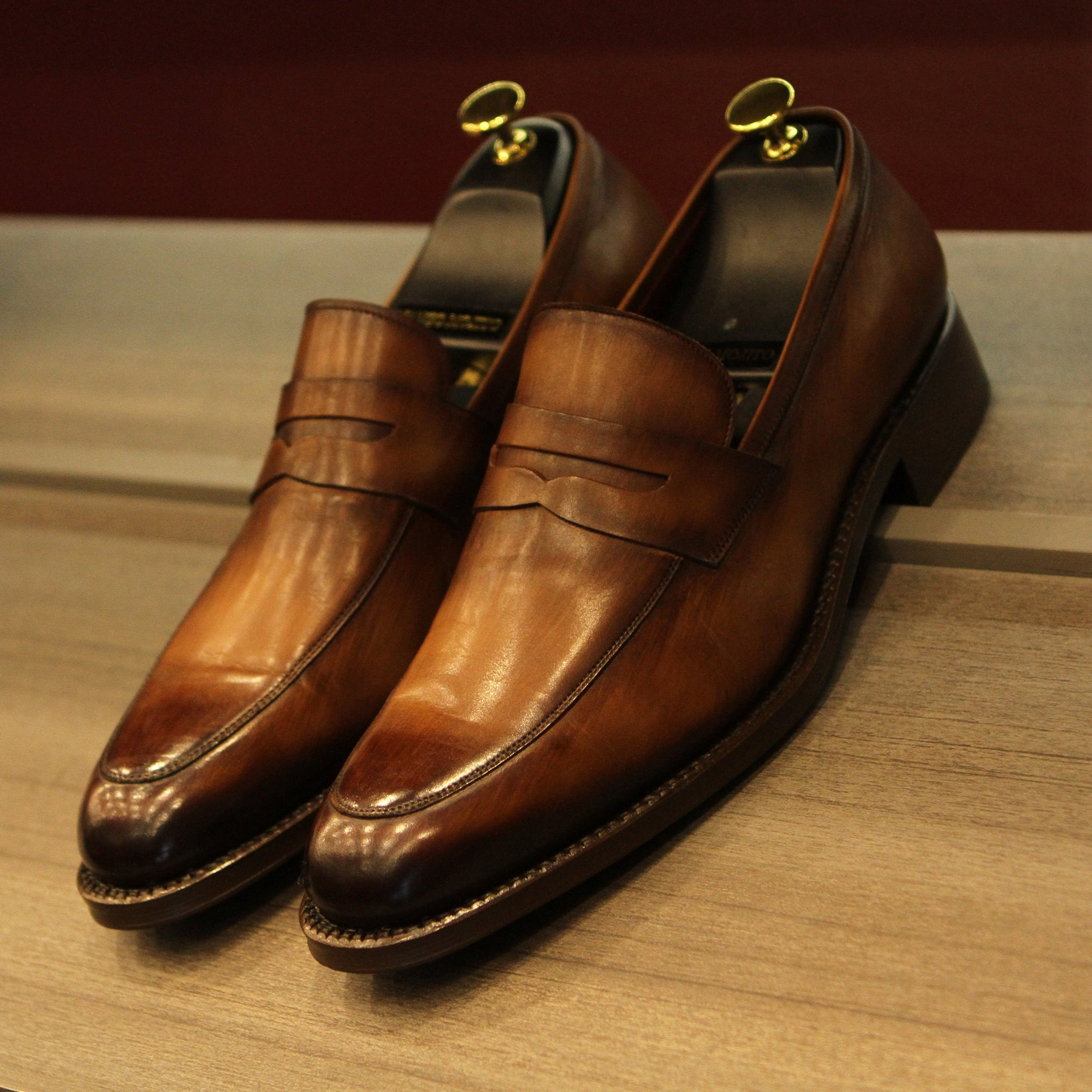GYW Masterpiece Penny Loafer - Tobacco