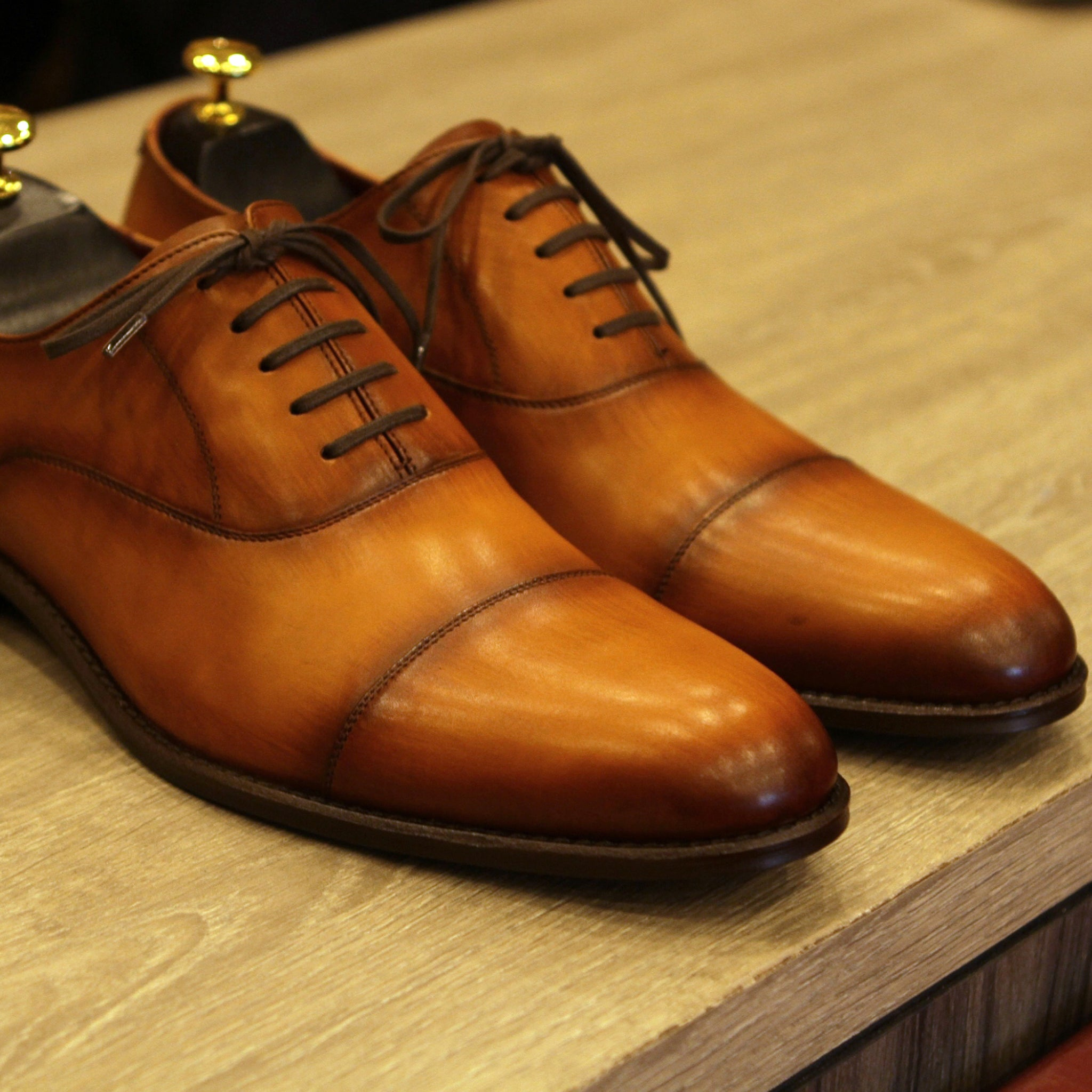 New Masterpiece Captoe Oxford - Oak