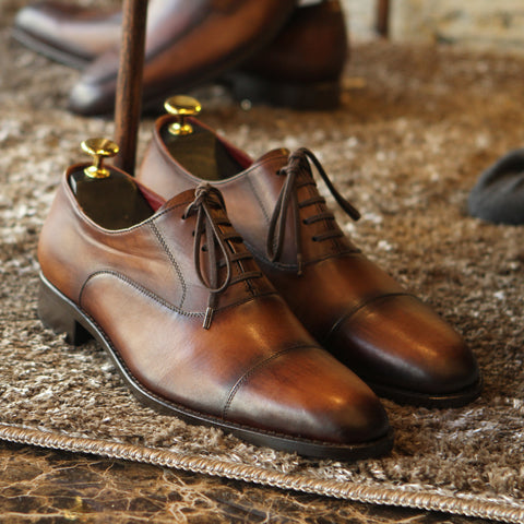 New Masterpiece Captoe Oxford - Tobacco