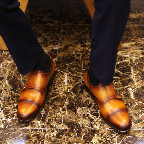Masterpiece Double Monk Strap - Oak