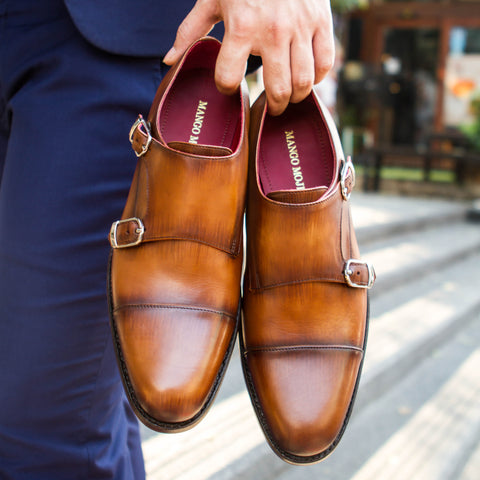 Masterpiece Double Monk Strap - Tobacco