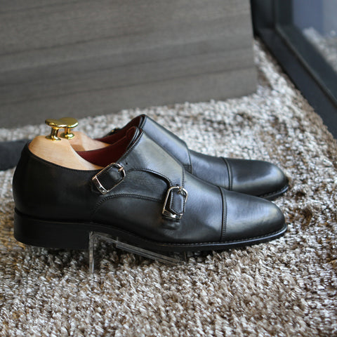 Masterpiece Double Monk Strap - Black