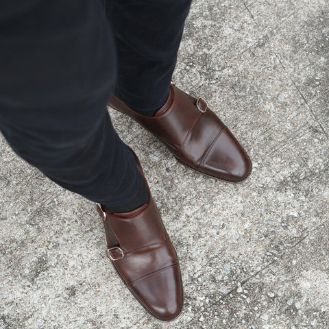 Masterpiece Double Monk Strap - Brown