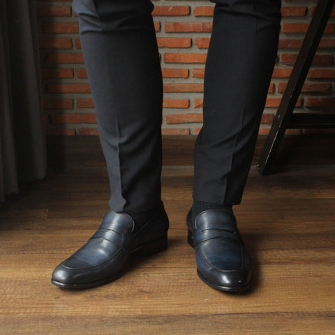 Masterpiece Penny Loafer - Navy