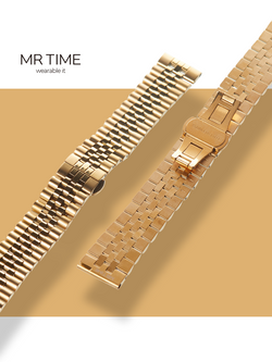 MR TIME Stainless Steel Metal - Gold Brushed Gold