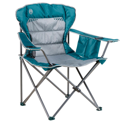 CHAIR QUAD WING TEAL/GREY