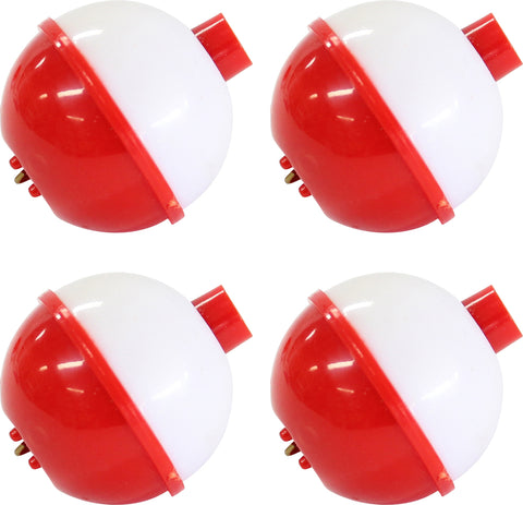 "FLOAT 1"" RED/WHT 4PK S/CATCH"