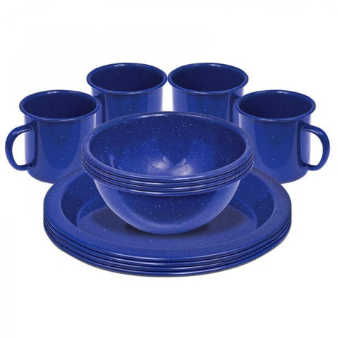 SET DINNER ENAMEL 12PC 4 PERS
