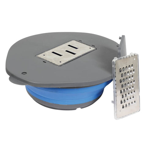 BOWL & GRATER SET POPUP BLUE