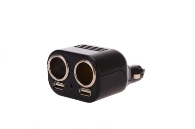 SOCKET 12V 2WAY W/TWIN USB