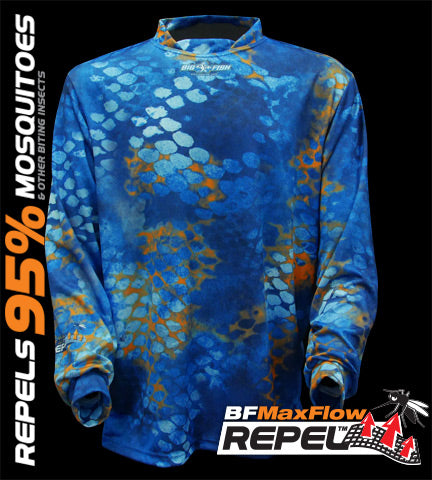 SHIRT FISHING L/S CAMOSCALE