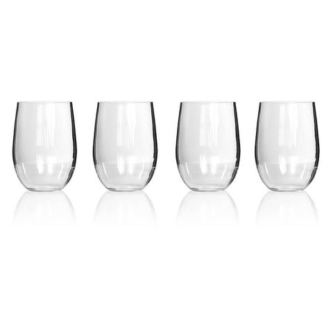 GLASS S/LESS  WINE TRITAN 4PK