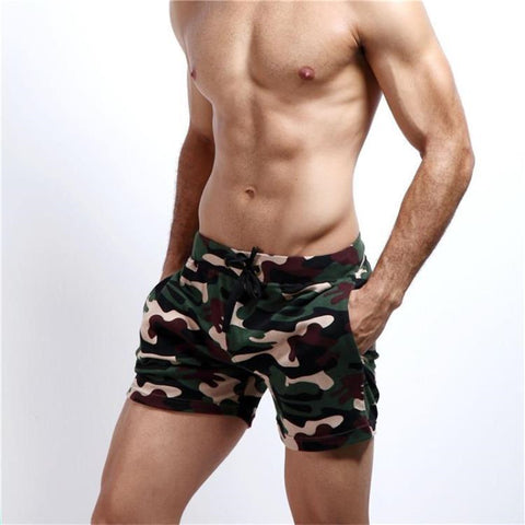 Mens Camo Fitness Workout Shorts - Republic Pa Sat