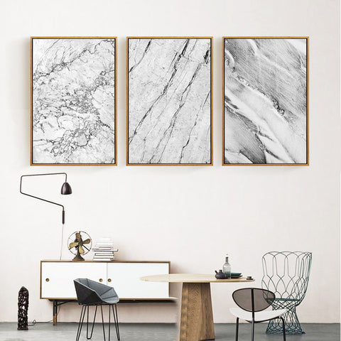 Abstract Grey Marble Canvas Prints