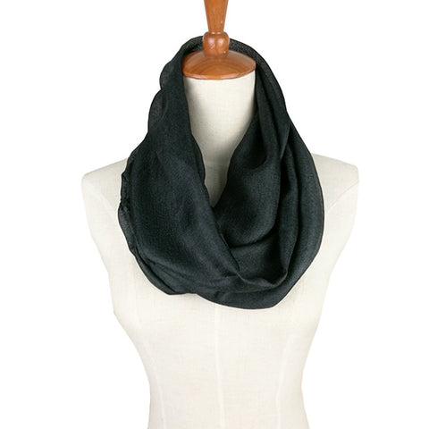 Womens Chiffon Silk Ring Scarf - Republic Pa Sat
