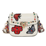Womens Fashion Hangbag with Appliques - Republic Pa Sat