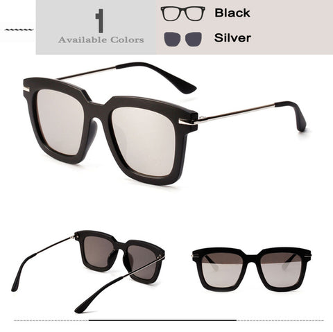 Marble Frame Oversized Square Sunglasses - Republic Pa Sat