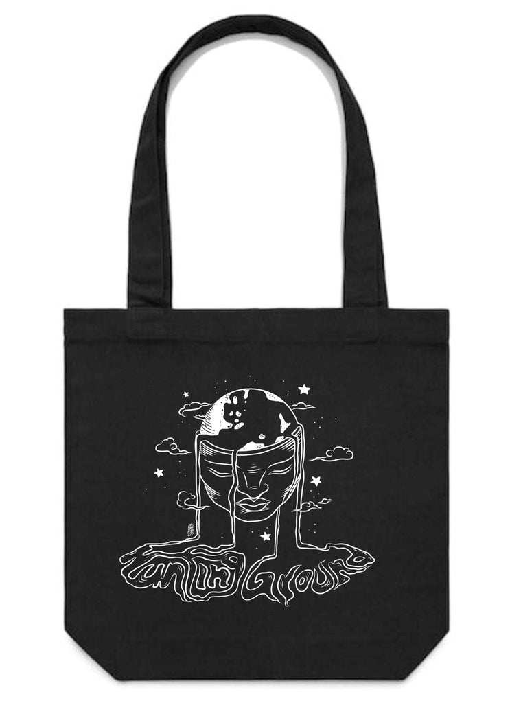 PLANET HUNTING GROUND WIDE TOTE BAD