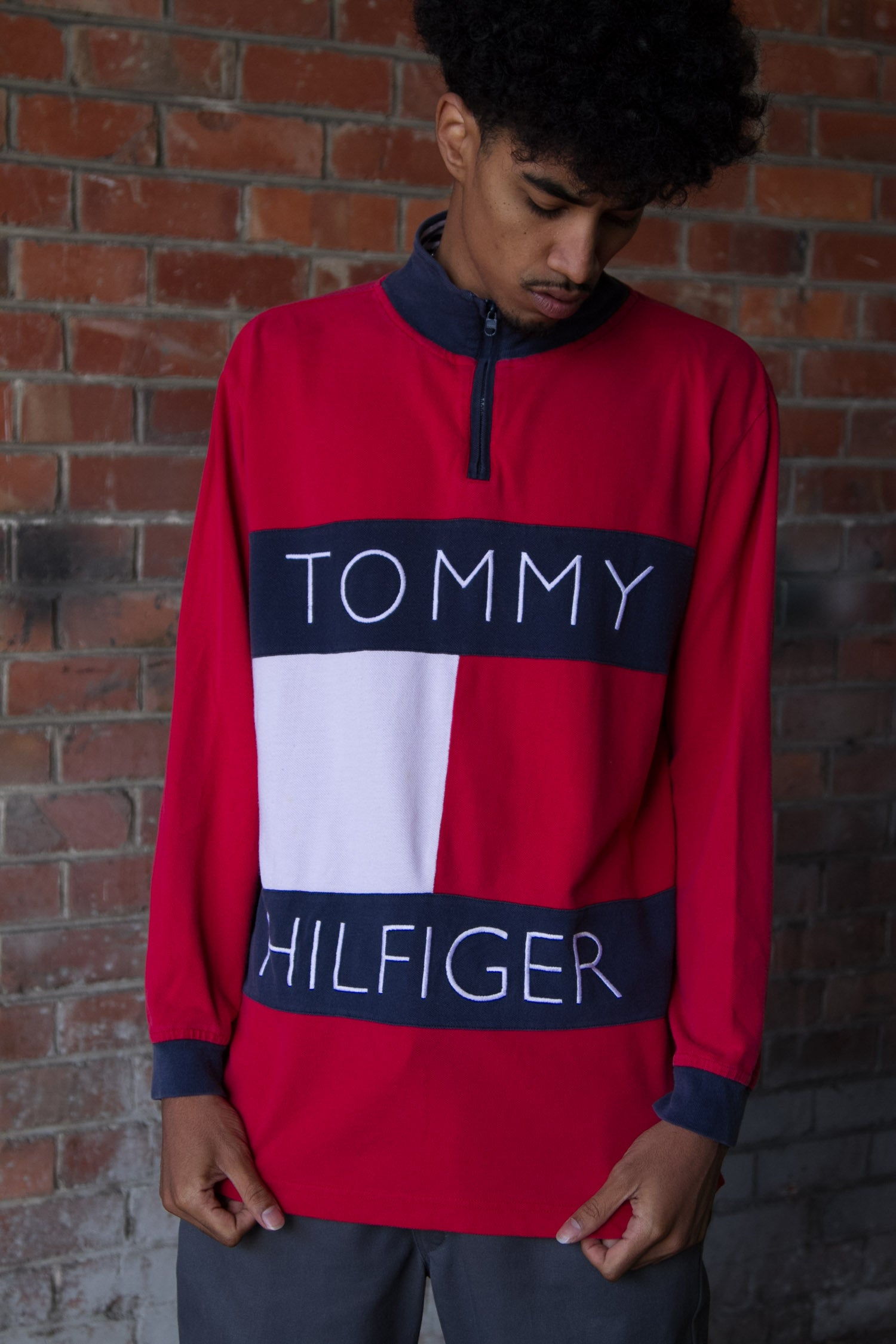 TOMMY HILFIGER QUARTER ZIP LONG SLEEVE