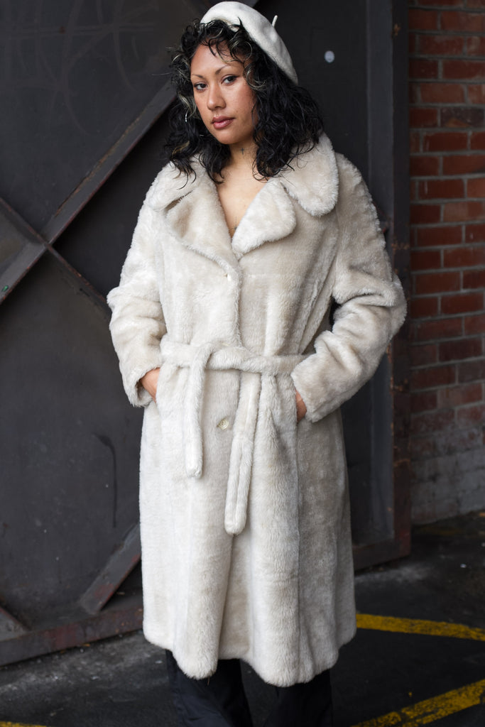 FAUX FUR MID COAT