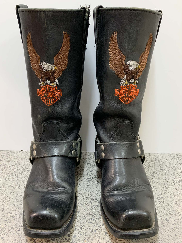 Vintage HARLEY DAVIDSON LEATHER BOOTS