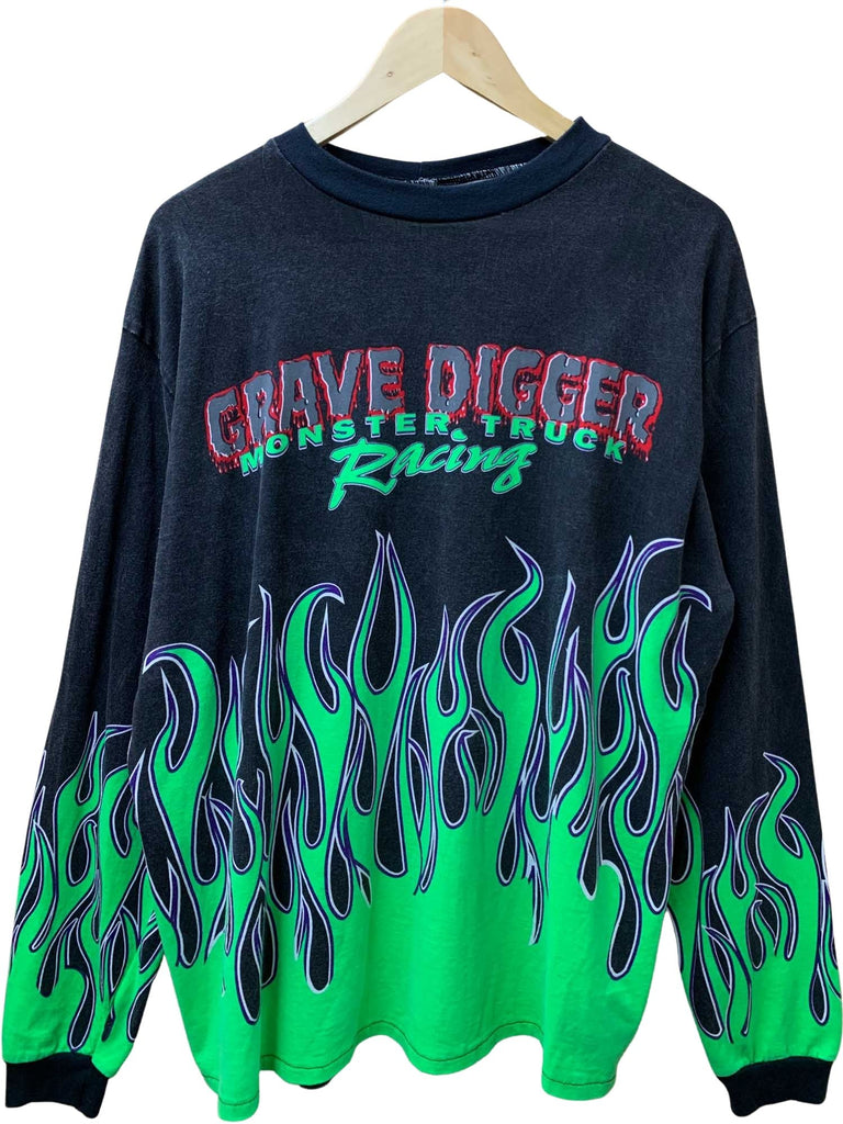 GRAVE DIGGER FLAMES LONG SLEEVE