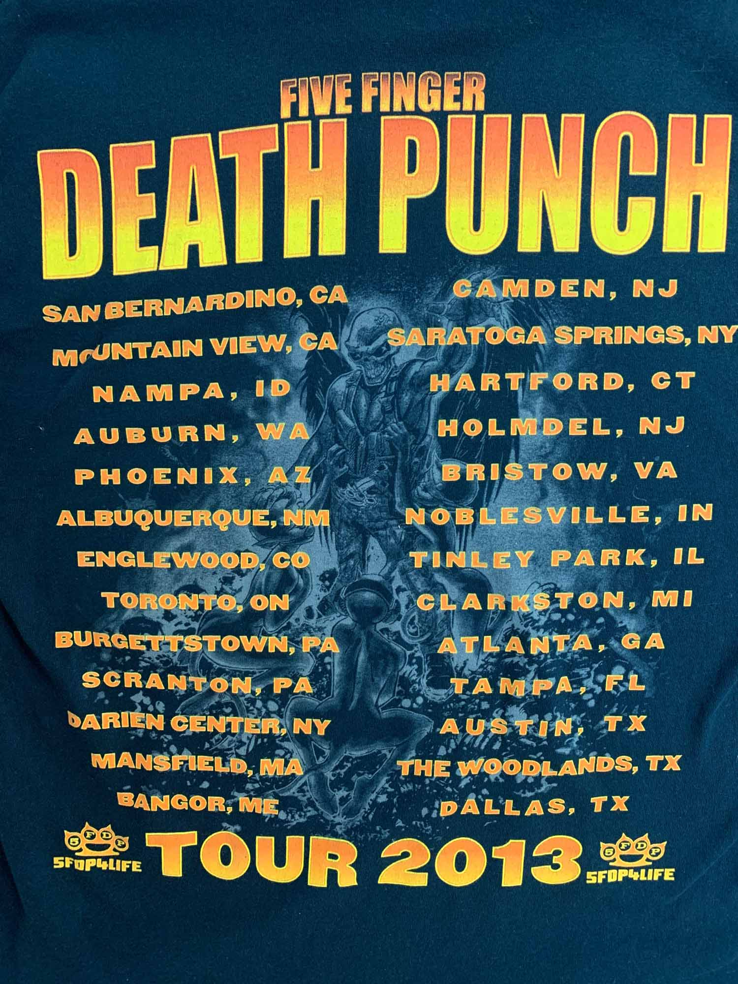 FIVE FINGER DEATH PINCH BAND TEE