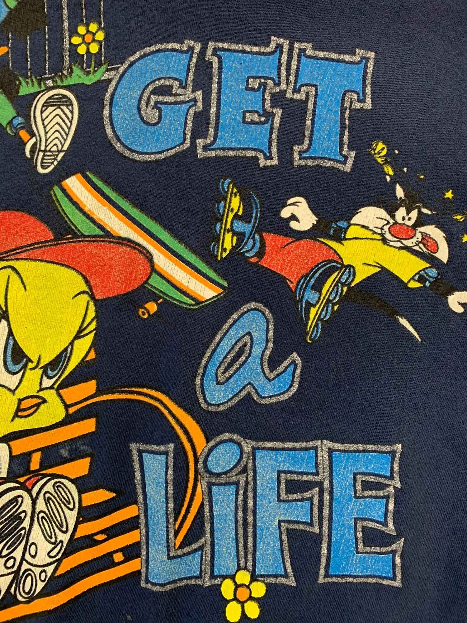 LOONEY TUNES 'GET A LIFE' TWEETY CREW NECK