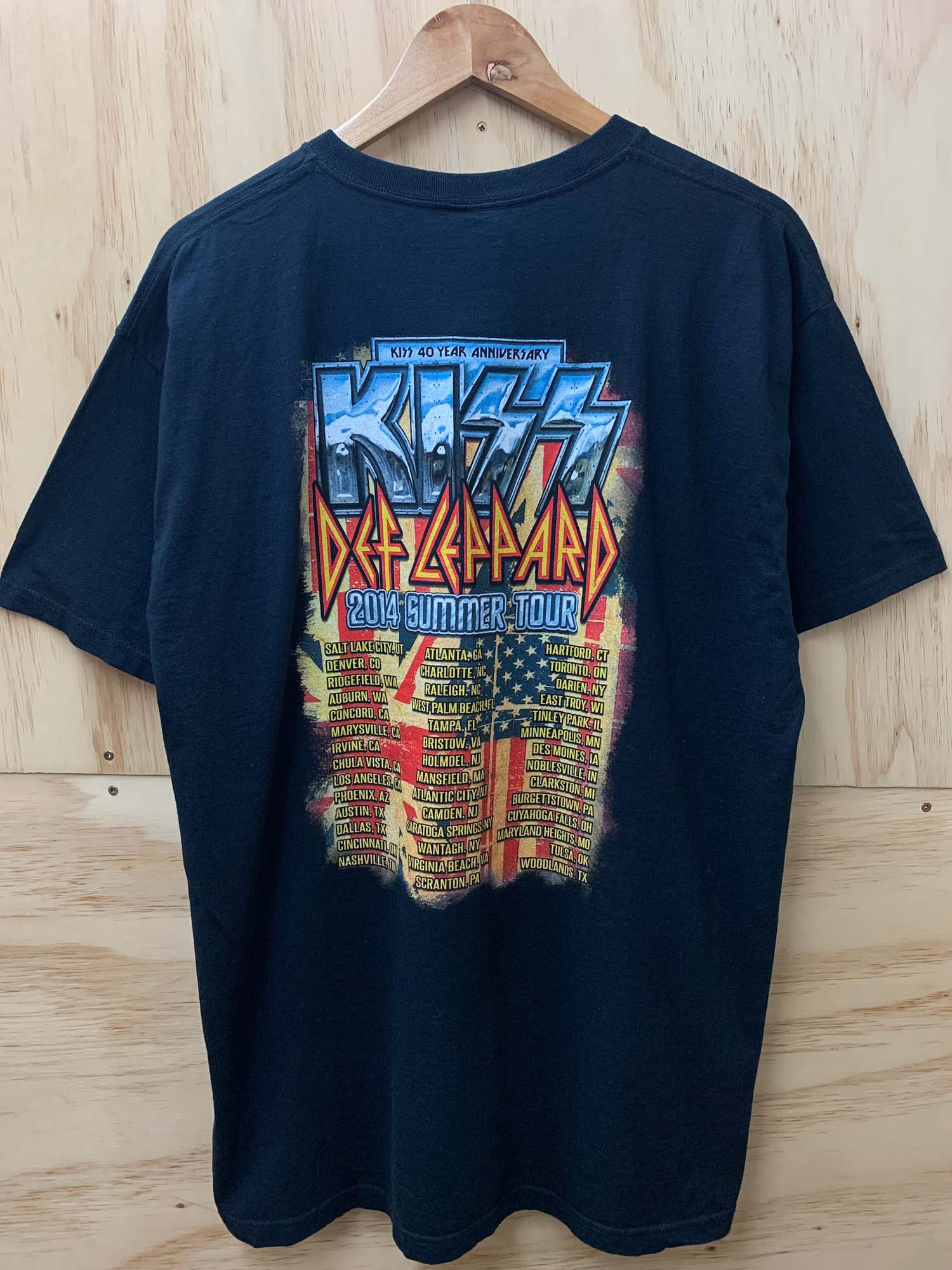 KISS X DEF LEPPARD SUMMER TOUR BAND TEE