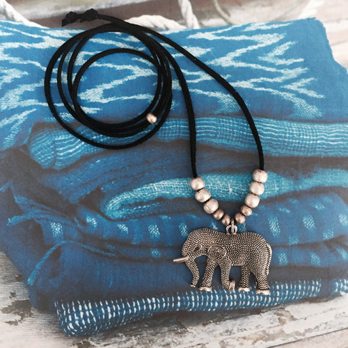 Lucy The Elephant Necklace - for Good Luck & Peace