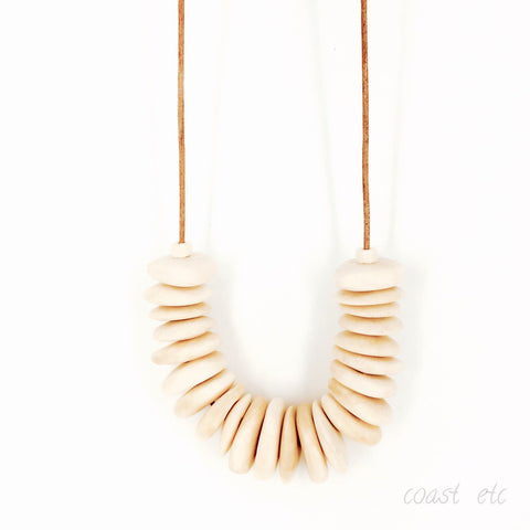 Pumice Wall Necklace
