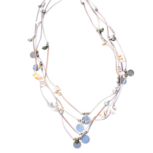 Pippy - Long Banjara Necklace, Natural