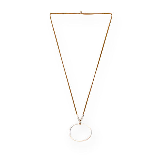 Classic O Necklace - Sand