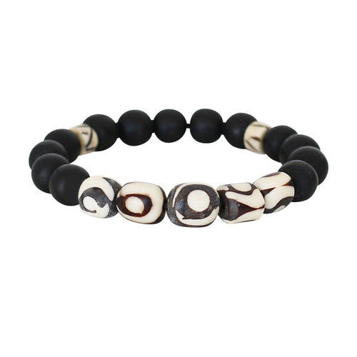 Mustique Bone & Resin Bracelet